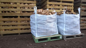 2 x Bulk Bags Seasoned Hardwood