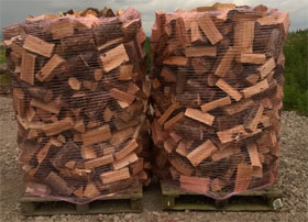 3.4 Cubic Meters Loose Tipped Seasoned Hardwood