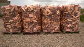6.8 Cubic Meters Loose Tipped Semi-Seasoned Hardwood