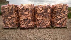 6.8 Cubic Meters Loose Tipped Semi-Seasoned Larch